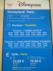 Disney Magical Shuttle Timetable and prices