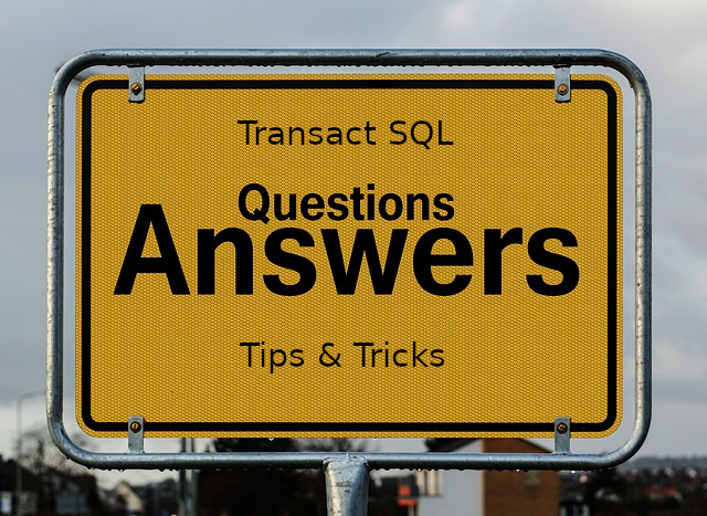 Transact SQL Ερωτήσεις και Απαντήσεις